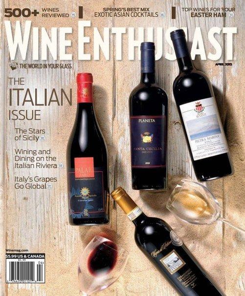 Wine Enthusiast Magazine – April 2015 USA vk c