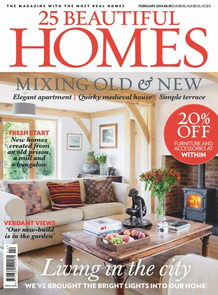 Download 25 Beautiful Homes - February 2016