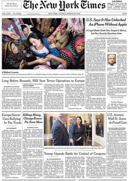 Download The New York Times March 29 2016