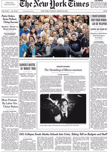 Download The New York Times March 15 2016