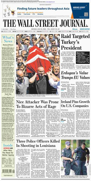 The Wall Street Journal Europe July 18 2016