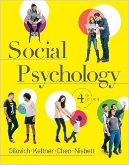 Download Social Psychology (4th Edition) Tom Gilovich, Richard E Nisbett