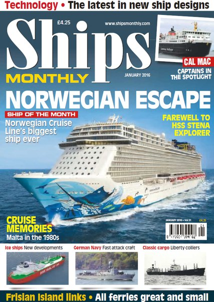Ships Monthly – January 2016