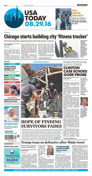 Download USA Today August 29 2016