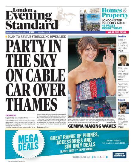 Download London Evening Standard - 31 August 2016