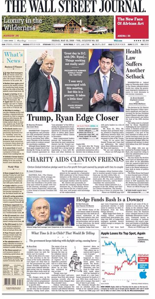 The Wall Street Journal May 13 2016