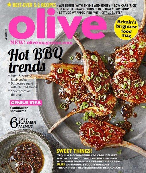 Olive Magazine – August 2015 UK