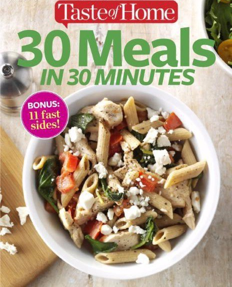 Download 30 Meals in 30 Minutes - August 2016