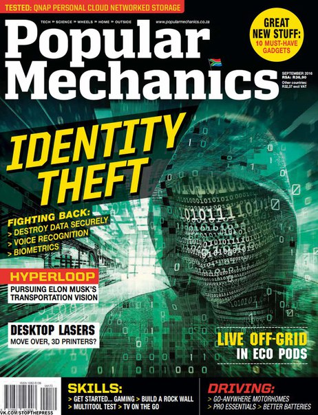 Download Popular Mechanics South Africa – September 2016