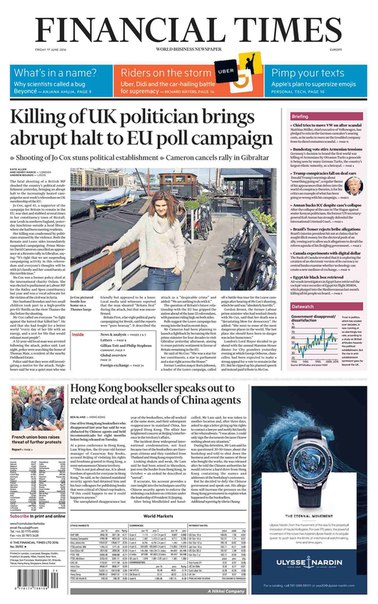 Financial Times Europe June 17 2016