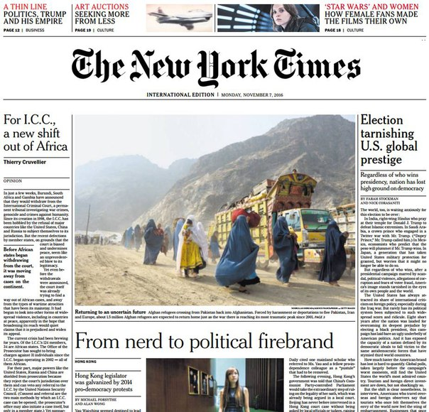 Download International New York Times - 7 November 2016