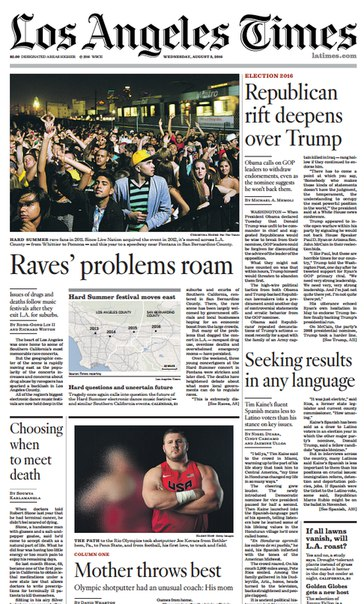Download Los Angeles Times August 03- 2016