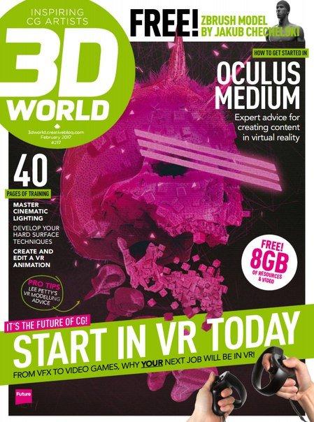 Download 3D World UK - February 2017