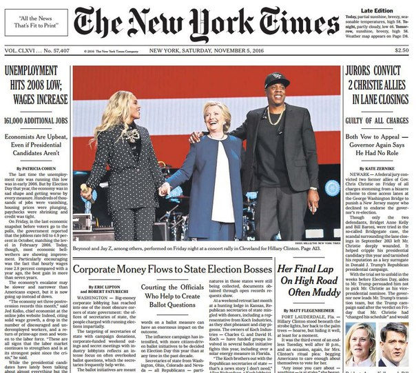 Download The New York Times 2016-11-05