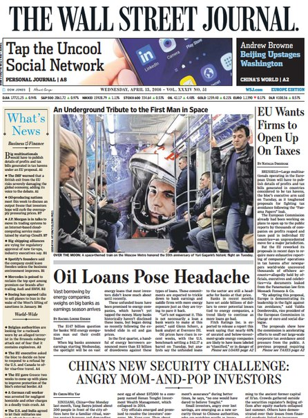 Download The Wall Street Journal Europe April 13 2016