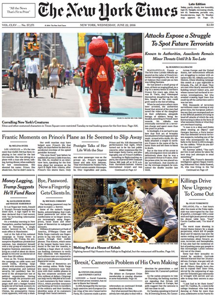 Download The New York Times June 22 2016