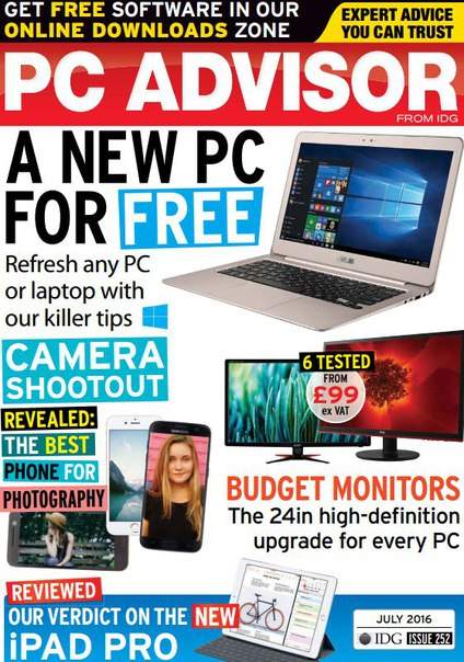 Download PC Advisor - July 2016
