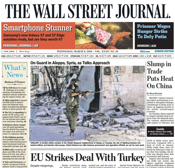 Download The Wall Street Journal Europe March 09 2016