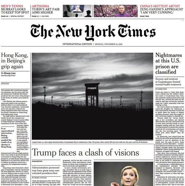International New York Times – 14 November 2016
