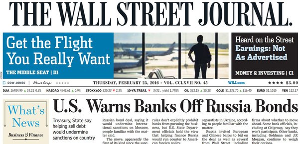 Download The Wall Street Journal February 25 2016