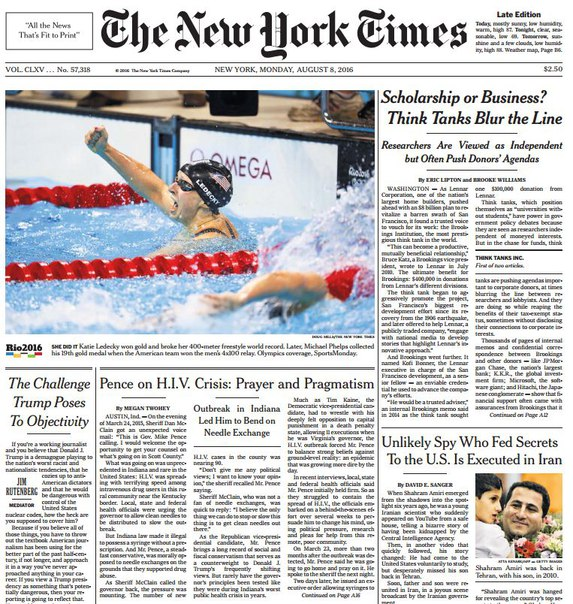 Download The New York Times August 08 2016