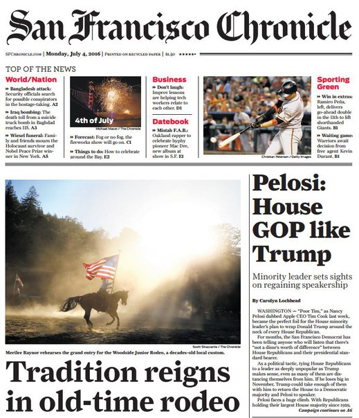 Download San Francisco Chronicle July 04 2016