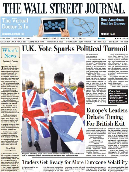 Download The Wall Street Journal June 27 2016