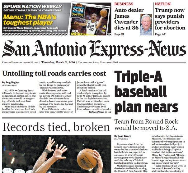 Download San Antonio Express News March 31- 2016
