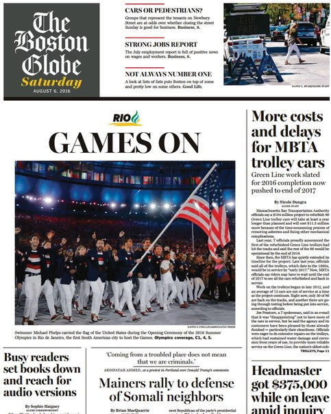 Download The Boston Globe August 06 2016