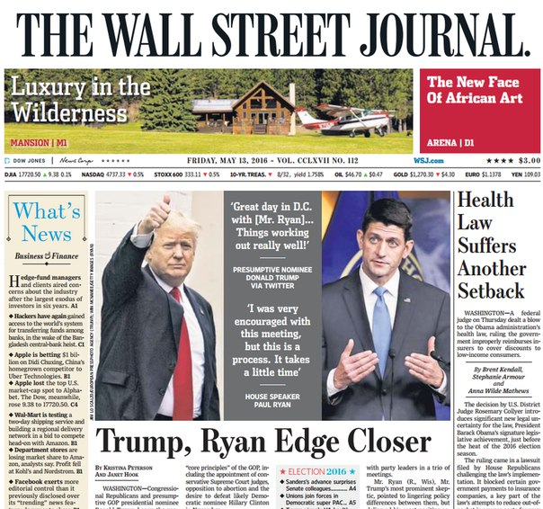 Download The Wall Street Journal May 13 2016