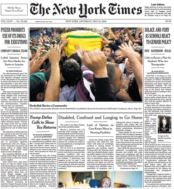 Download The New York Times May 14 2016