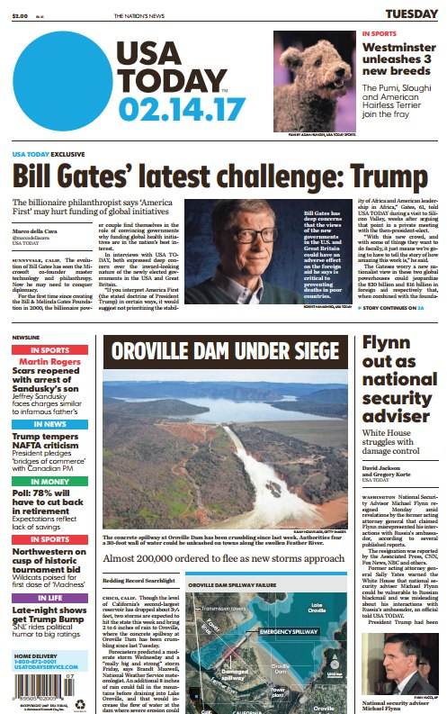 Download USA Today February 14 2017