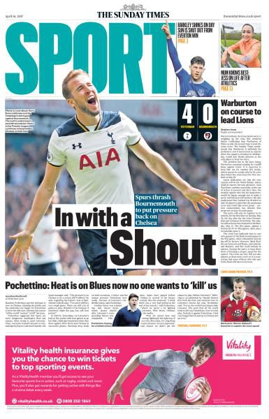 The Sunday Times Sport 16 April 2017 Pdf Download Free