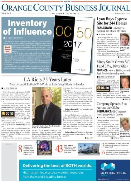 Orange County Business Journal  May 8, 2017 Pdf Download Free. Impersonating A Police Officer. Online Construction Courses Ny Car Insurance. Social Media Help For Small Business. Medigap Health Insurance Plans. Active Directory Analyzer Secure Your Website. Philosophy Of Early Childhood Education. Phoenix Dental Implants Security Alarm System. Becoming A Registered Investment Advisor