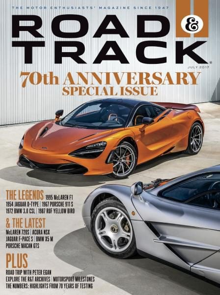 Road and Track July 2017 70th Anniversary Special Issue Jaguar FREE SHIPPING sb