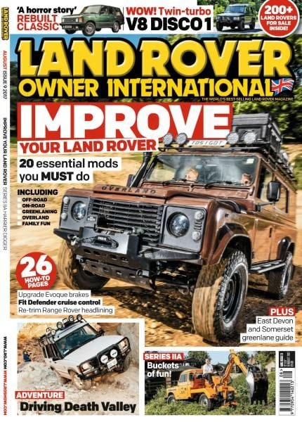 Land rover owner august 2017 pdf download free for Free land 2017