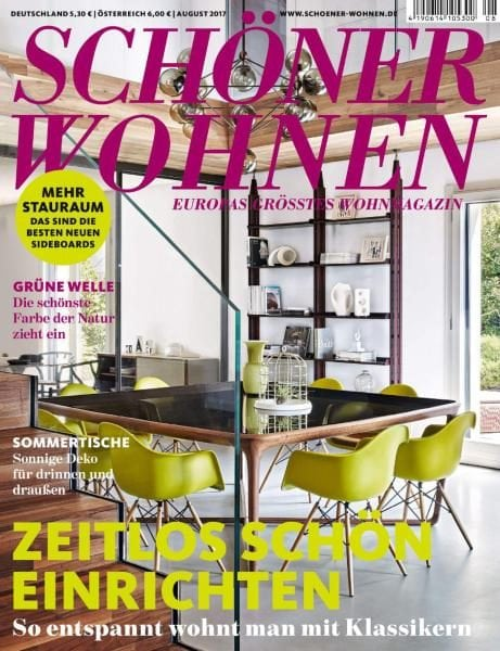 sch ner wohnen august 2017 pdf download free. Black Bedroom Furniture Sets. Home Design Ideas