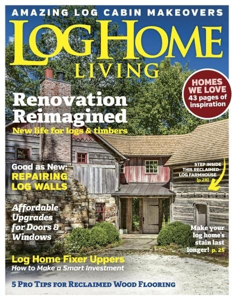 Log home living september 2017 pdf download free for Log homes magazine