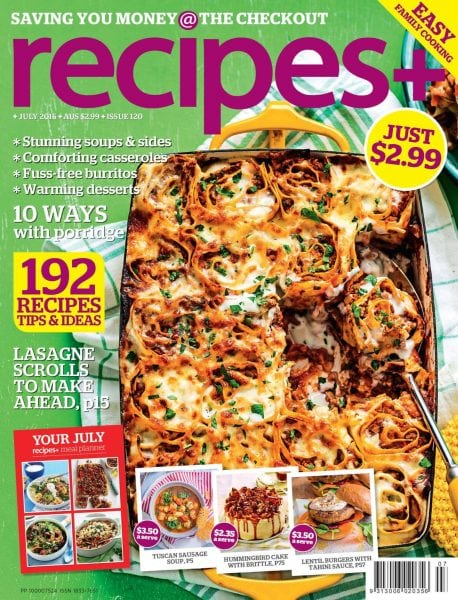 Download recipes+ — July 2016