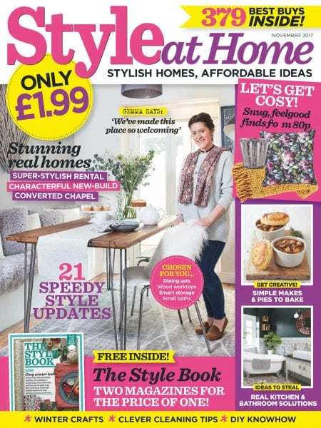 Style at home uk november 2017 pdf download free for Home style subscription