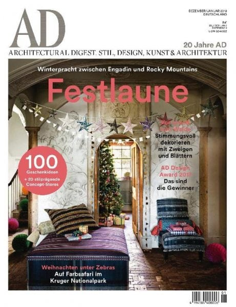 ad architectural digest germany dezember januar 2017 pdf download free. Black Bedroom Furniture Sets. Home Design Ideas