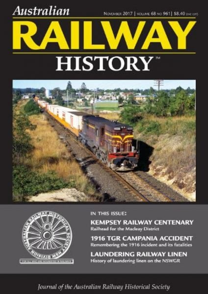 Download Australian Railway History — November 2017