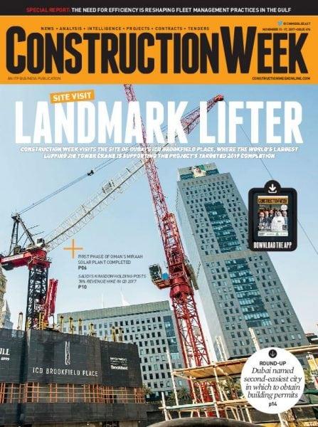 Download Construction Week Middle East – November 11, 2017