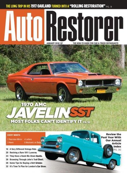 auto restorer magazine index