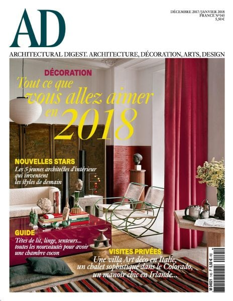 Ad architectural digest france d cembre 2017 pdf for Free architectural magazines