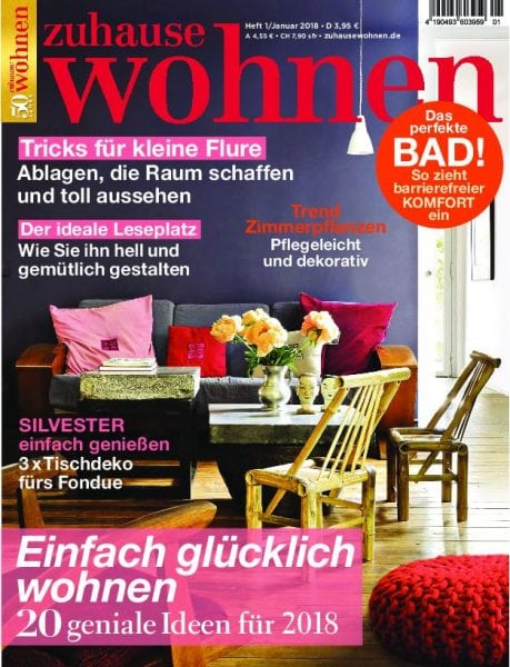 zuhause wohnen januar 2018 pdf download free. Black Bedroom Furniture Sets. Home Design Ideas