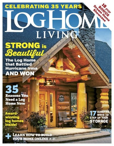 Log home living january 2018 pdf download free for Log homes magazine