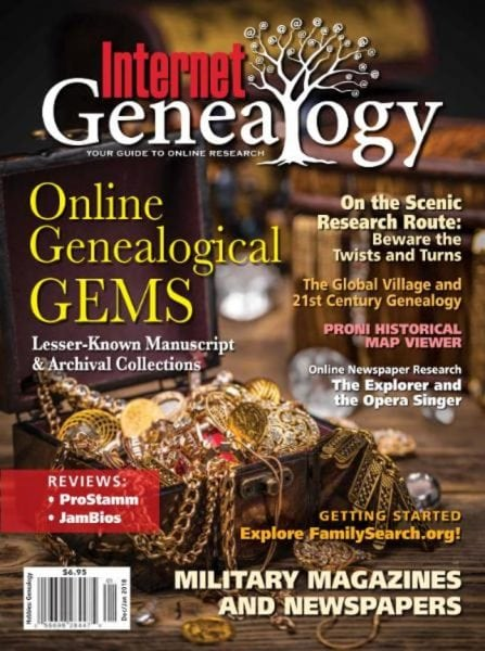 Download Internet Genealogy — December 2017 — January 2018