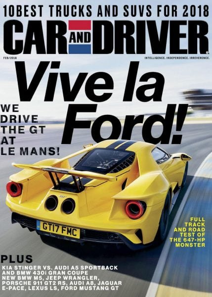car and driver usa february 2018 pdf download free. Black Bedroom Furniture Sets. Home Design Ideas