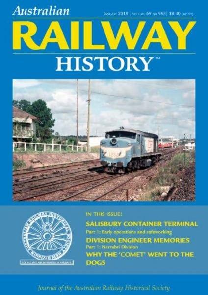 Download Australian Railway History — January 2018